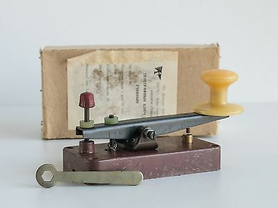 Military Training Morse Telegraph key in box USSR 1979