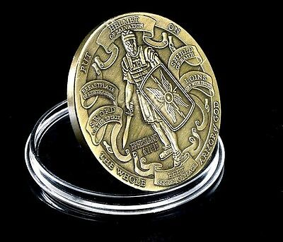 BEST QUALITY Crusader Knights Templar Put on the Whole Armor of God Coin Medal
