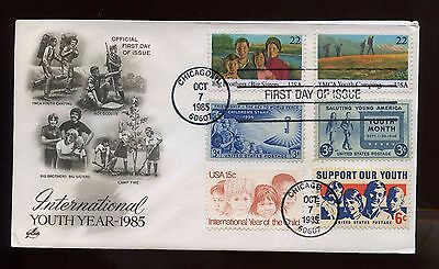 US SUPER FRANKED First Day COMBO cover 1985 International Youth Year