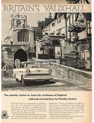 1959 Vauxhall VICTOR Driving Though Streets Of London art VTG PRINT AD