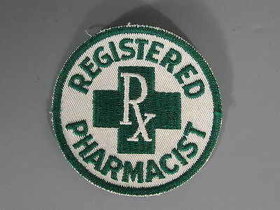 Registered Pharmacist Patch / New Old Stock of Embroidery Company / FREE Ship