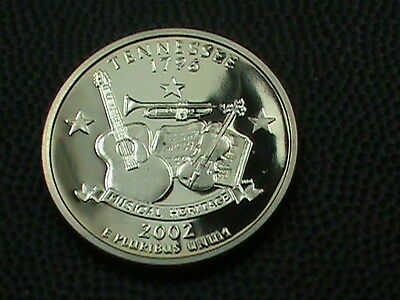 UNITED STATES    25  Cents    2002  -  S    PROOF  ,   TENNESSEE