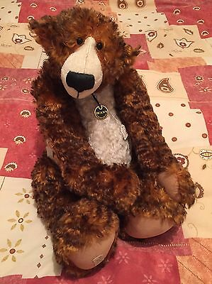 Tiger Toes Limited Edition Deans Rag Book Co. Bear Jill Baxter - Mint Condition