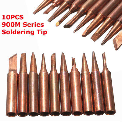 900M-T Series Soldering Solder Tips Pure Copper Electric Iron Head Tool 10PCS