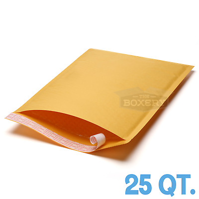25 #5 10.5 x 16 Kraft Bubble Padded Envelopes Mailers from The Boxery