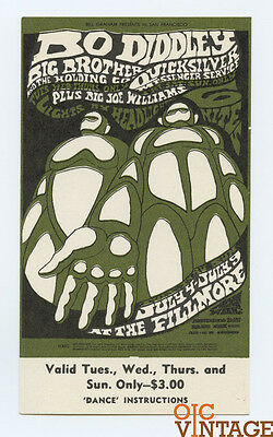 Bill Graham 71 Ticket Big Brother and Holding Co Quicksilver 1067 Jul 4