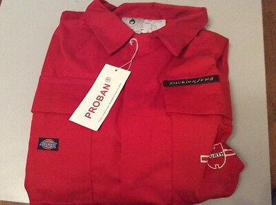 Wurth Dickies Proban Frame Retardent Overall Boiler Suit Bnwt Size 116/46R