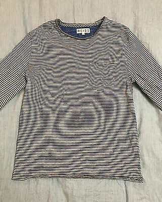 REISS STRIPED JUMPER MEDIUM white and blue casual crew neck