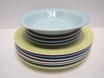 10 Pieces - Vintage T.S.&T. LuRay Pastels Dinnerware China