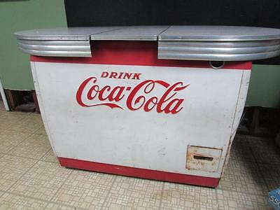 Vintage Coca Cola Wet Box Cooler with 1950's Formica Table Top