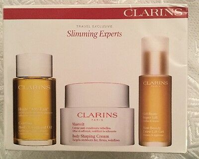 Clarins Slimming Set BRAND NEW Body Treatment Oil, Body Shaping Cream, Bust Gel