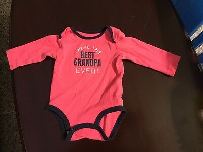 Baby Clothes Girl Carters 6 Month Best Grandpa Ever Pink