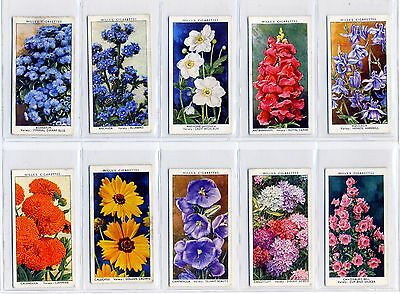 "Wills ""Garden Flowers by Richard Sudell"". A full set of 50 cards."
