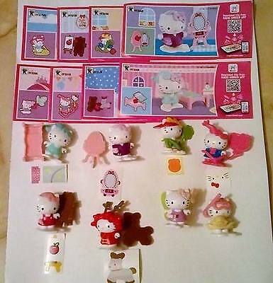 Komplettsatz Hello Kitty aus Russland+8 BPZ Kinder Joy Farbvarianten