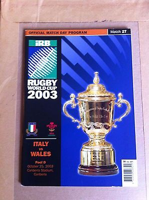 Wales v Italy Rugby World Cup 2003