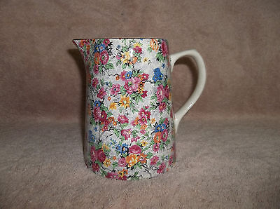 Vintage Lord Nelson Pottery Chintz Marina Pitcher / England