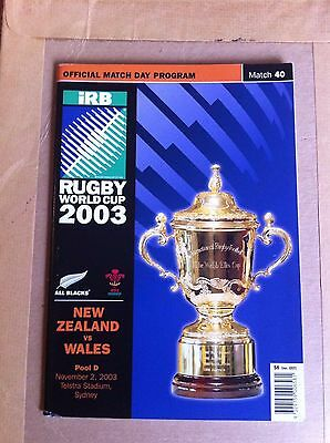 Wales v New Zealand Rugby World Cup 2003