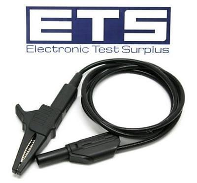 Fluke Alligator Clip To Stackable Banana Plug Test Lead Cable