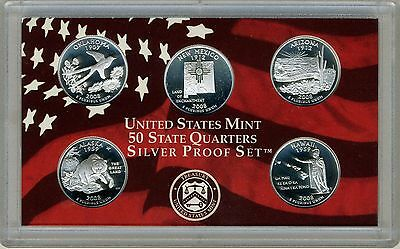 2008-S  50 State Quarters Silver Gem Deep Cameo Proof With Gray Box & COA