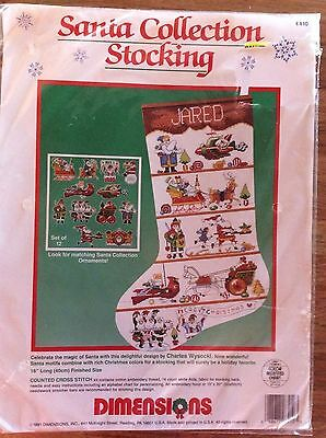 """Dimensions 1991 Santa Collection Stocking 8410 16"""""""
