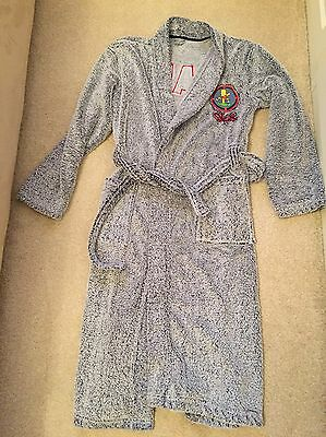 Boys Marks And Spencer Grey Soft Dressing Gown. Age 11-12 Years. Good Condition
