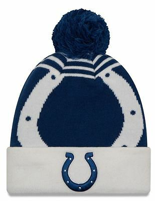 8051330f653655 ... usa indianapolis colts new era nfl logo whiz 2 cuffed knit hat 539f9  015ee
