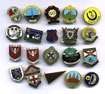 20 Bowling Bowls Club Badges Various Towns & Places (Lot 2)