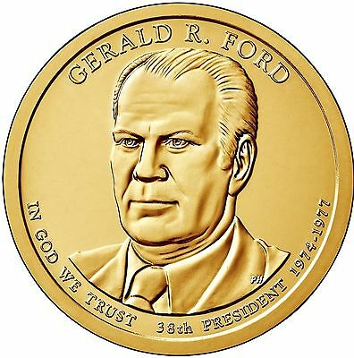 2016 P&D Gerald Ford Presidential Dollar BU Coins from Mint Rolls