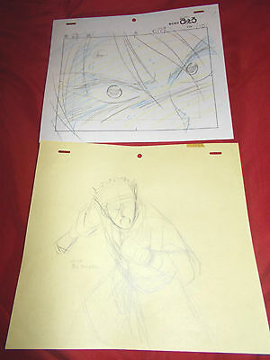 Lot of 2 Fushigi Yuugi Yugi AKA The Mysterious Play Anime Cel sketches