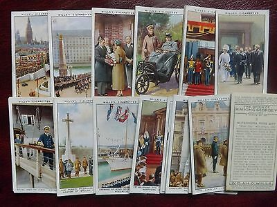 The REIGN of  H.M.KING GEORGE V - ORIGINAL Full Set of 50 - WILL'S - 1935 - VG+