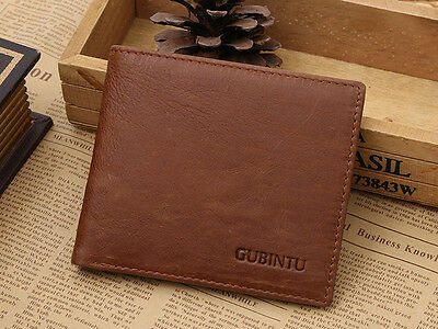 RFID SAFE Blocking BROWN Leather Bifold Wallet Contactless Card Protection