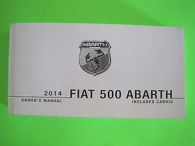 2014 Fiat 500 ABARTH Factory Owner's Manual *OEM*
