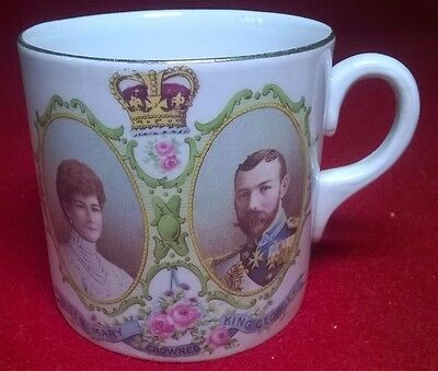 King George V & Queen Mary Cup/Mug Stoke on Trent Royal Visit 1913 (74)