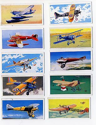 "Lyons Tea ""Wings of Speed"". A full set of 24 cards."