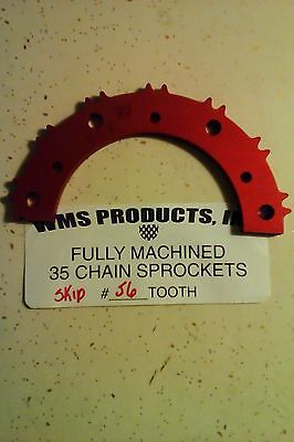 go kart racing #35  WMS skip tooth sprockets 56 tooth