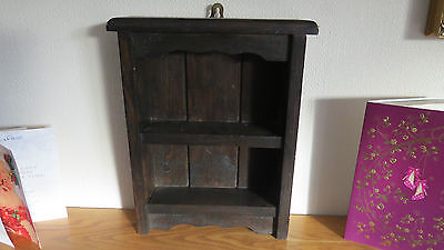 antique display wall shelf cabinet - kitchen or study - models figures etc