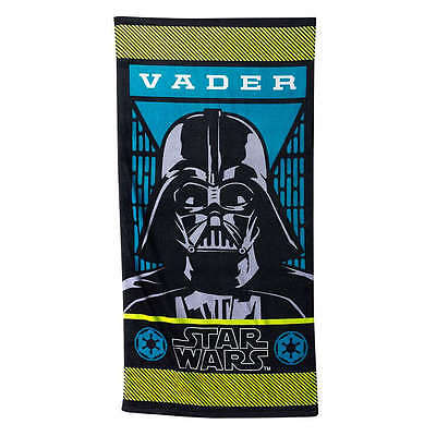 Disney Star Wars Darth  Child's Beach Towel  NWT   28 X 58 inches  100% Cotton