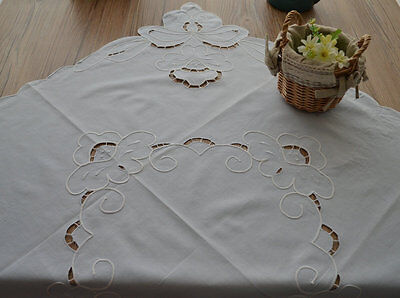 "36"" Square Table Cloth Runner Topper French Country Sky Blue Cotton"