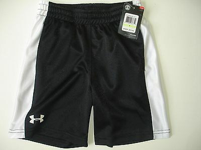 NWT Boy 4 Under Armour Shorts ~ Shiny Black and White