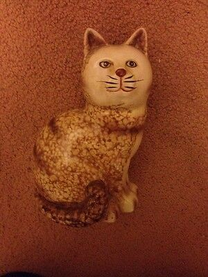 """China/pottery  """"marmalade"""" cat - Collectable Antique Excellent Condition"""
