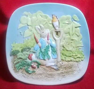 Beswick Peter Rabbit Wall Plaque Plate Beatrix Potter 2nd Edition  (96)