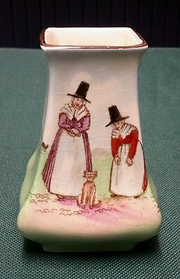 """Royal Doulton Series Ware Welsh Lady Miniature Vase 3"""" tall"""