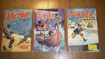Three Vintage Victor Annuals in Excellent Condition. 1982, 83, 84.