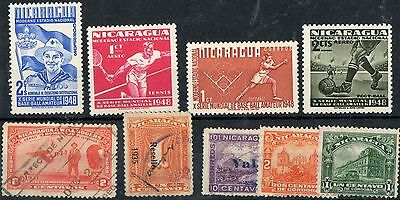 Nicaragua 1 Stock card nice lot of stamps Mint and Used