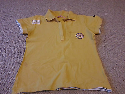 Womens Miss Outrage T Shirt Yellow Short Sleeve V Neck Cotton Blend Size UK 14