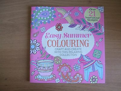 docrafts easy summer colouring craft and create over 21 designs, book