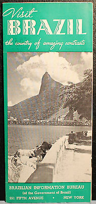 Visit Brazil The Country Of Amazing Contrasts Vintage Travel Brochure