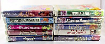 DISNEY CLASSIC VHS LOT of 10 SEALED Movies Black Diamond Masterpiece Collection