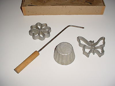 Vintage Rosette Iron, Timbale Iron Pastry Shell, Butterfly Iron