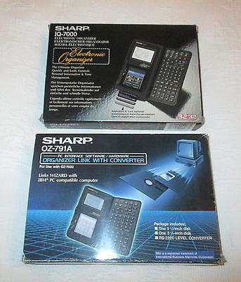 Sharp IQ-7000 Organiser with OZ-791A PC-Link. Boxed unsold stock.